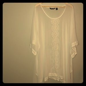 White sheer cover-up
